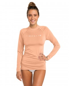 Lycra RIP CURL SUNNY RAYS RELAXED L/SL PEACH 2019