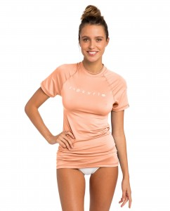 Lycra RIP CURL SUNNY RAYS RELAXED S/SL PEACH 2019