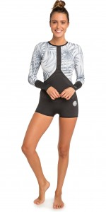 Lycra Rip Curl  WOMENS LONG SLEEVE BOYLEG SHORTY 2019