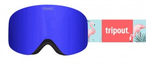 Gogle  Racer Flamingo Blue Bird