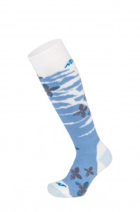 Skarpety Nordica All Mountain Junior 2pp Blue/White + White/Violent