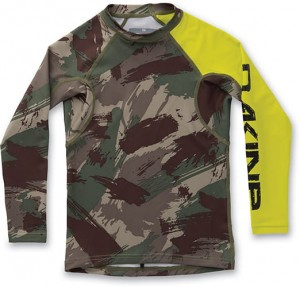 Lycra Dakine Rashguard Boy's Heavy Duty Snug Fit Camo 2017