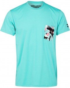 Lycra BILLABONG Team Pocket Surf Tee Rashguard MINT 2019
