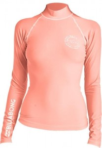 Lycra BILLABONG Logo In Long Sleeve Rashguard CORAL PINK 2019