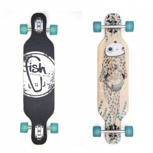 Longboard Drumfish/Silver/Transparent Green
