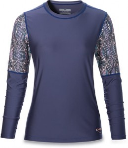 Lycra Dakine Rashguard Women's Flow Loose Fit L/S Furrow 2017
